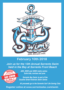 Sorrento SLSC Bay Swim Poster